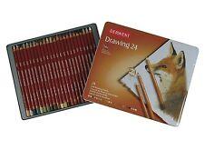 Derwent Drawing - 24 Tin - Soft Tonal Drawing Pencils