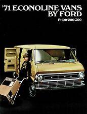 1971 Ford Econoline Van E-100 E-200 E-300 Vintage Dealer Sales Brochure