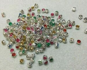 Montee Beads 5mm, mixed colours, jewellery making, UK seller, fast dispatch