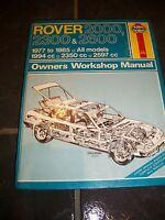 Haynes ROVER 2000, 2300 & 2600 1977 to 1985 Owners Workshop Manual 468