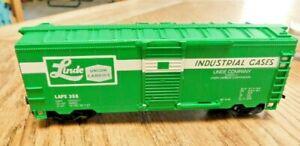 HO Life-Like Linde Union Carbide Freight Train Box Car LAPX 358