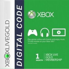 XBOX LIVE GOLD 1 MONTH MEMBERSHIP XBOX 360 / XBOX ONE **FAST DELIVERY**