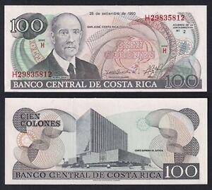 Costa Rica 100 colones 1993 FDS/UNC  C-06