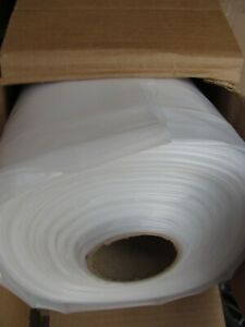 NEW 20' x 100' ROLL RODEO 6MIL CLEAR POLY/ PLASTIC CONSTRUCTION SHEETING/ FILM
