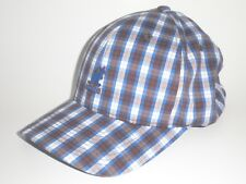 Kangol LIBERTY NATIONAL BASEBALL Hat Blue Brown Plaid S/M ($35) Cap Flexfit RARE