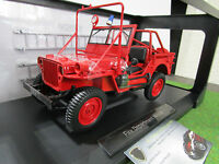 JEEP WILLYS FIRE DEPARTMENT VEHICULE 1988 rouge 1/18 NOREV 189012 pompier