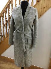 Ladies Numph long coat size 12 wool blend