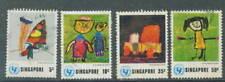 S'pore   UNICEF 4V used 1.10.1974 # F 63