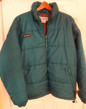 Columbia Green Puffer Jacket -- Polyester Fill -- Mens XL  EUC!