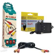 Nintendo NES AV Cable & AC Power Supply - Hookups Bundle - Brand New