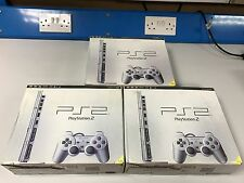Sony PlayStation 2 Slim Satin Silver Console (SCPH-90003SS)