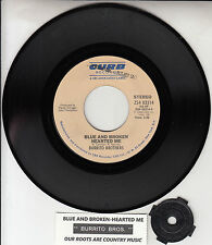 "BURRITO BROTHERS Blue And Broken Hearted Me 7"" 45 record NEW + juke box strip"