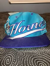 Vintage 90s Logo Athletic Charlotte Hornets Embroidered Spellout Snapback Hat