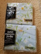 Vintage Morgan Jones Dainty Daisies Twin Size Flat & fitted Cotton blend Sheets