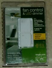 Lutron Maestro Fan Control + Light Dimmer for DIMMABLE LEDs, Incandescent,