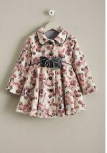 Girls Pink Floral Coat Mack & Co Chasing Fireflies Size 4