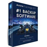 Acronis True Image 2017- 3 Geräte - DEUTSCH BOX inkl. DVD - NEU