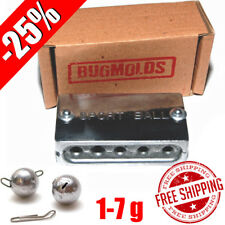 Fishing Sinker Aluminum Mold -25% DIY Do It Lead Round Jig Sport Ball 1-7 g