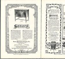 1919-1920 SONORA PHONOGRAPH advertisement x2, Sonora Phonograph Co
