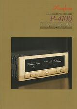 Accuphase p-4100 catalogue prospectus catalogue Datasheet brochure