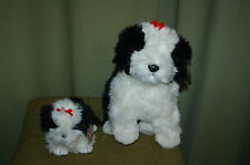 POOFIE the White & Black DOG  - Ty Beanie Baby & BUDDY - Too Cute Dogs  - MWMT