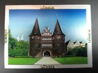 Lübeck Holstentor  Premium Souvenir Magnet,Germany Deutschland,Laser Optik