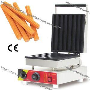Commercial Use Nonstick 110v 220v Electric 7pcs 23cm Churro Baker Maker Machine