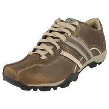 Chaussures marrons Skechers pour homme, pointure 45