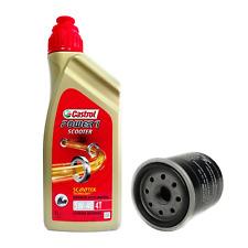 Kit tagliando 1L Castrol Scooter 5W40 filtro olio originale Piaggio 82635R
