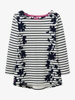 Joules Harbour Print Jersey Top Navy Border Floral Size 8, 10