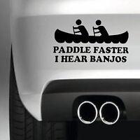 PADDLE FASTER CAR BUMPER STICKER VINYL DECAL JDM  4X4 FUNNY