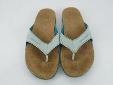 Patagonia Shore Thing Womens Thong Sandals Size 11 Blue Flip Flops
