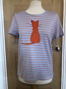 Marc Cain Orange Cat T-Shirt Size N4 UK 14