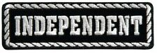 Independent White And Black Motorcycle Bike Uniform Patch Biker