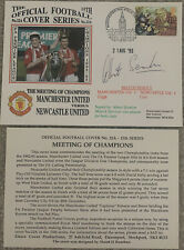 More details for manchester united v newcastle united first day cover signed by albert scanlon