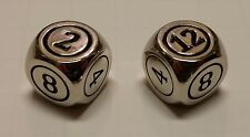 2x Command Zone Metal Dice Silver Color / Commander EDH Magic: The Gathering MTG