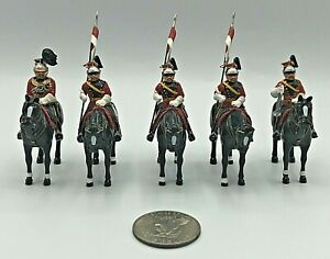(5) Vintage Mounted British Lifeguards Lead Toy Soldiers 54mm EXCEL Unbranded