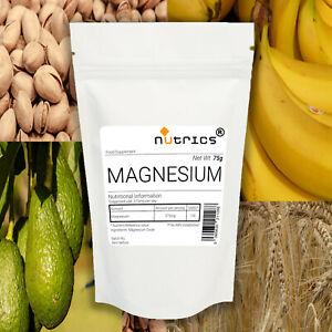 Nutrics® MAGNESIUM Pharmaceutical Grade Powder Elemental Magnesium 75g