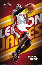 LeBron James - Miami Heat POSTER 57x86cm NEW * NBA basketball MVP star player