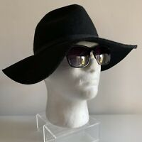 Black Wide Brimmed Floppy Hat Meduim Size Chic Boho Festival Hippy Indie Unisex
