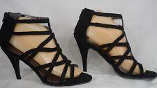 Bellini 'Missy' Black Faux Suede Strappy High-Heel Dress Sandal Women Size 8.5 M