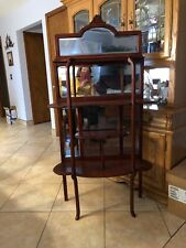 Antique Knick Knack display with mirror , Illinois cabinet co.