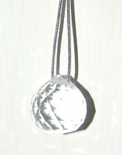 20mm Hanging Facetted Crystal Suncatcher Feng Sui on Elasticated Silver Cord