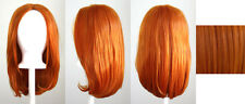 17'' Long Straight No Bangs Copper Brown Cosplay Wig NEW
