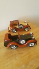 2 x Dafu Wooden Classic 8'' Kids Cars Mantlepiece NEW BOXED