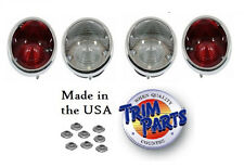 1964 - 1966  Corvette Tail Light Set w/backups. 2 Red & 2 White Lights. GM Resto