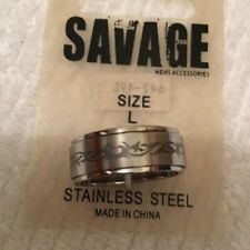 MENS Stainless Steel Ring Size Large
