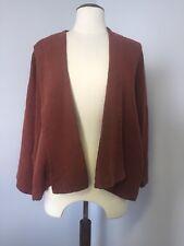 Designer Oska jacket Linen Burnt Orange Lagenlook Size 1 Fits 12 14 16  kimono 20d7529d6