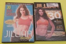 JILLIAN MICHAELS - Lot of 2 DVDs - 30 DAY SHRED & RIPPED IN 30 - BOTH NEW SEALED