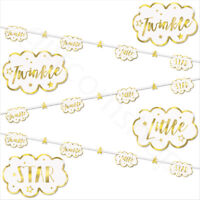 7ft Twinkle Twinkle Little Star Banner Bunting Baby Shower Garland Decorations
